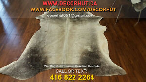 Soft to Touch Natural Shades Cowhide Rug Imported Brazilian West Island Greater Montréal image 3