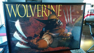 Framed Wolverine poster, mint condition. Wicked !!!!