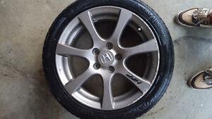 Set of 4 OEM Honda HFP Enkei 17 Rims With 215/45R17 Tires