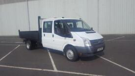 2013 63 PLATE FORD TRANSIT 100 T350 CREW CAB DROPSIDE PICK UP