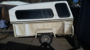 5X8 Enclosed Trailer - needs axle - 3 Like new tires and rims