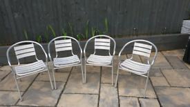 Set of 4 Aluminium Bistro Chairs