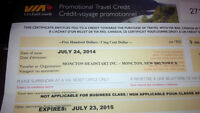 $500 Via Rail Travel Credit - for use by July 23/15