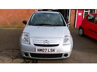 CITROEN C2 1.1 COOL 1 OWNER VERY LOW MILES AIR CON ONLY £15 WEEK P/LOAN 2007 07