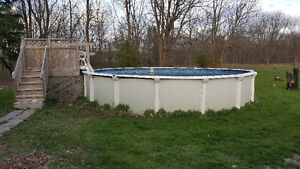 "54"" X 24' above ground pool w/accessories"