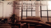 K.D's House Cleaning Services- PRICES BELOW & GIFT CERTIFICATE