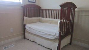 Wood Baby Nursery: Crib, Change Table, Rocker, Mattress and more Kitchener / Waterloo Kitchener Area image 2