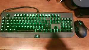 Razor gaming mouse and keyboard