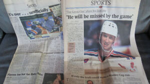 old newspapers of Wayne Gretzky Retirement