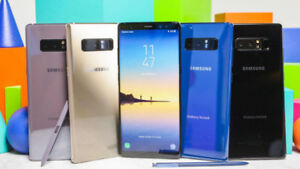 BIG SALE ON SAMSUNG NOTE 8, NOTE 5, NOTE 4, NOTE 3, NOTE EDGE!!
