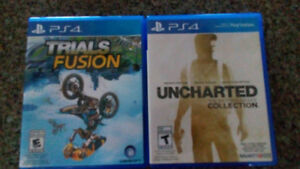 Trials Fusion and Uncharted Nathan Drake Collection. For Ps4