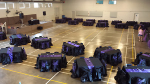 Black Universal Chair Covers and Tablecloths