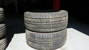 Pair of 2 Kumho Road Venture APT 255/55R18 tires (65% tread life