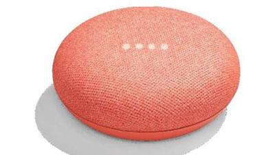 2017 Google Home Mini Smart Small Speaker  Coral   Brand New  Ships Worldwide