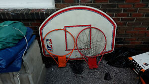 Basketball board plus two rims