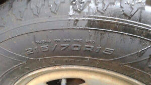 215/70R15 goodyear all terrain tires on rims