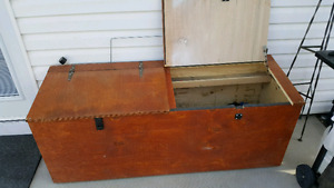 Wooden storage/ tool box