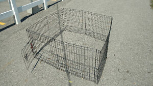 pet cage, fence great for recovering sick pet