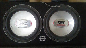 """2-10"""" MTX subs in box"""