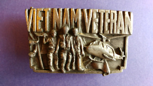 Brass Vietnam Veteran Belt Buckle