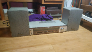 Matching vintage realistic amplifier and speakers