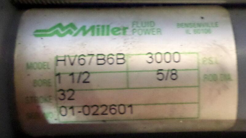 MILLER HYDRAULIC FLUID POWER CYLINDER HV67B6B NNB