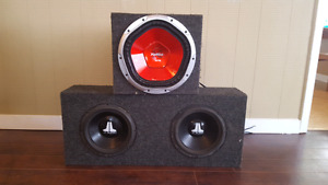 Subs JL audio and a Sony 1200w