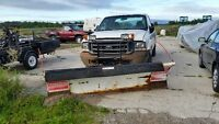 Blizzard snow plow Ford F250