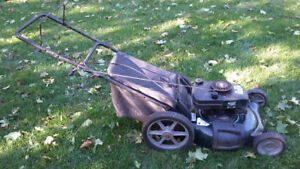 Gas lawn mower Craftsman with bag in good condition