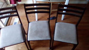 Three dining room chairs - good condition