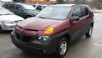 01 pont aztek only 127000km SUV SAFETY+E-TEST+WARRANTY INCLUDED
