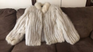 Great condition real blue fox jacket