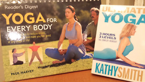 YOGA BOOK and 3 DVD FOR EVERYBODY