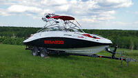 "2008 Sea-Doo Wake 230. 23'6"" 430 HP Matching trailer. Low hours"
