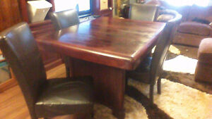 dutch table and 4 chairs