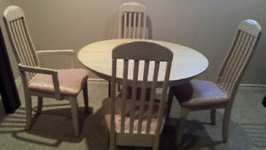Moving out of province. Solid oak dining table with chairs