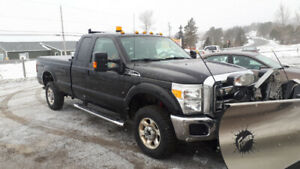 2016 Ford F-250 Super Duty with Fisher Plow