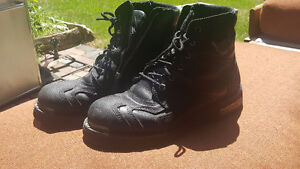 Black leather Harley Davidson Stealth boots