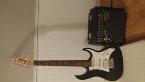 Ibanez electric guitar with fender amp