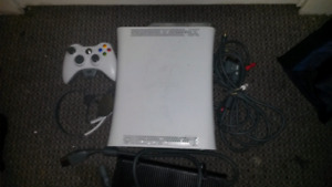 Xbox 360 with 7 games and a controller