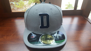 Dallas Cowboys New Era grey low crown hat sz 7 1/8