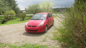 2007 Honda Fit RED Hatchback