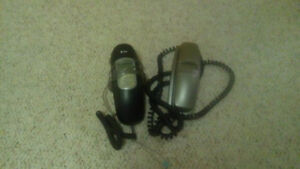 2 phones with cords