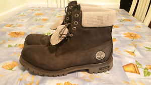 Size 12 black and grey Timberland boots.