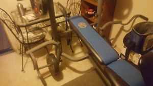 bench for sale with weights