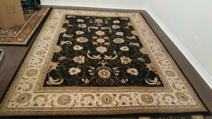 Area rug, 2 runners and door mat