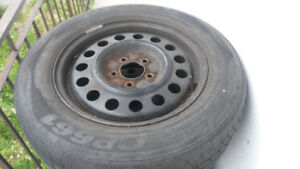 4 car summer  tires with rims