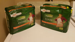 Depend Fit-Flex Underwear For Women - Size Large