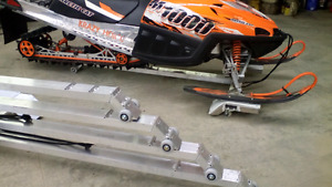 Drive on/off snowmobile dolly.