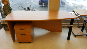 Beautiful Desk with Matching Filing Cabinet